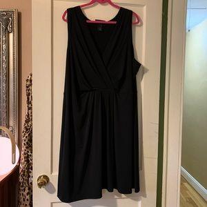 Lane Bryant Little Black Dress, V-neck, sleeveless